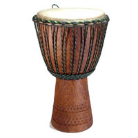 Khadi Wood Calf Skin Djembe from Mali