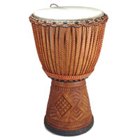Professional Djembe Large Lenke Wood Mali Drum